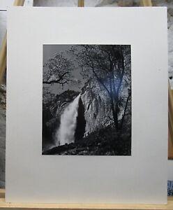 "Ansel Adams Original Photo ""Yosemite Falls, Spring"" 1983 Gelatin Silver Print"