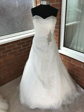 VICTORIA JANE BY RONALD JOYCE WEDDING DRESS IVORY SIZE UK 14 (ONE ONLY)