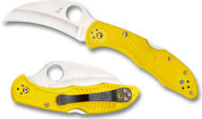 SPYDERCO NUMBERED Tasman Salt 2 Plain 100% Rustproof H-1 Bld Yellow FRN C106PYL2
