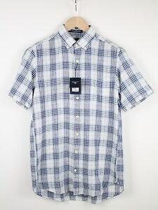 GANT RIPPLEWOOD LINEN BLEND REGULAR FIT Men's SMALL Short Sleeve Shirt 38783_GS