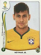PANINI NEYMAR WORLD CUP 2014 ROOKIE STICKER BRAZIL PSG MINT