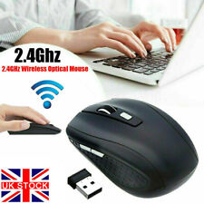 More details for 2.4ghz wireless cordless mouse mice optical scroll for pc laptop computer + usb