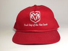 "Dodge Ram Truck Snap Back Baseball Hat Cap ""Truck Stop Of The New South"" Red"