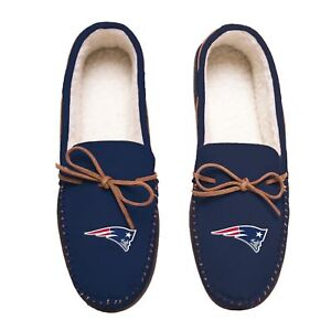 NFL New England Patriots Men's Colored Moccasin Hard Slippers-New