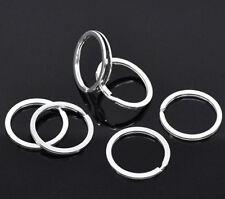 10pcs 25mm Cool Metal Split Rings Keyring Keychain Key Holder Keyfob Accessories