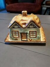 Vintage Keele St. Poterie Cottage Ware Beurre/Fromage Plat & Cover