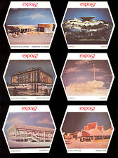 1967 MOLSON BEER MONTREAL EXPO 67 COMPLETE 45 COUNTRY Pavilions TRADING CARD SET