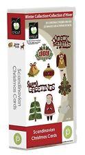 SCANDINAVIAN CHRISTMAS CARDS Cartridge For Cricut Machine ~ Phrases Cards Trees
