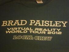 Brad Paisley Virtual Reality World Tour 2012 Local Crew T-shirt Size XL