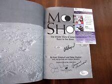 ALAN SHEPARD MERCURY SEVEN NASA ASTRONAUT SIGNED AUTO MOON SHOT BOOK JSA