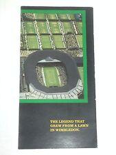 ROLEX Wimbledon pamphlet 1991 USA