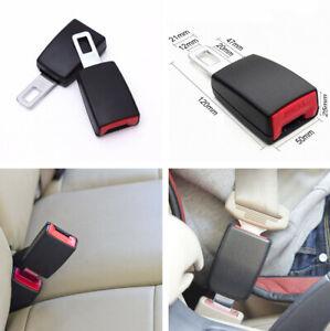 """2Pcs 21mm 0.8"""" Car Seat Belt Extender Metal Tongue Buckles Clip Metal & Plastic"""