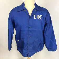 Vtg 70's Sigma Phi Epsilon Fraternity Coat Jacket Windbreaker Eoe Greek College