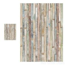 Wood Wall Mural 4 Panel Rustic Indoor Decor Vintage Weathered Effect Home Large