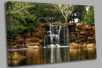 Picture Waterfall Seeping Water Canvas Wall Art Picture Print