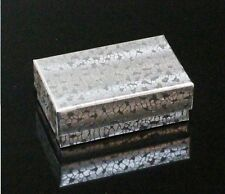 "COTTON FILLED 20 JEWELRY BOXES  SILVER FOIL 2.5"" X 1.5"" X 7/8"""