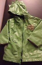 New Carters Toddler Boys Dinosaur Explorer Raincoat Windbreaker Jacket Hood 12M