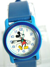 MICKEY MOUSE LADIES WATCH /BLUE CASE AND BAND/DARK BLUE BEZEL