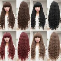 Women Lady Long Hair Wig Curly Wavy Synthetic Anime Cosplay Party Full Wigs NL