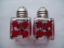 Lady Bug Bugs Beetles Hand painted mini salt and pepper shakers