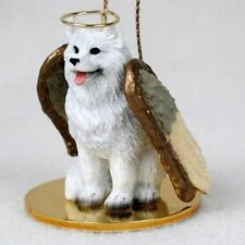 Small Angel Samoyed Dog Breed Angel Christmas Holiday Ornament