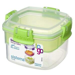 Sistema Snacks To Go Food Storage Container Lunch Box - 400ml - Assorted Colours