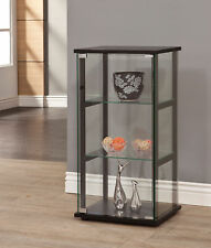 dining room cabinet. Contemporary 3 Shelf Black Frame Glass Curio Cabinet Display Case Coaster  950179 Dining Room Cabinets Cupboards eBay