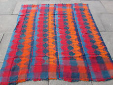 Old Tribal Nomadic Hand Made Persian Oriental Blue Red Wool MOJJ Kilim 180x173cm