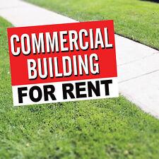 Commercial Building For Rent Indoor Outdoor Advertising Coroplast Yard Sign