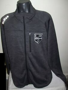 LOS ANGELES KINGS NHL Full Zip Track Jacket GRAY   2X