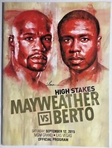 Floyd Mayweather Jr vs Andre Berto onsite program # 49 - 0 boxing