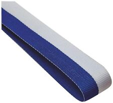 Medal Ribbon / Lanyard BLUE + WHITE with Gold clip GREAT VALUE 22mm wide