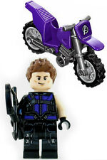 NEW LEGO HAWKEYE w/MOTORCYCLE MINIFIG super hero figure minifigure 76067