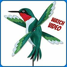 "HUMMINGBIRD WHIRLIGIG WIND SPINNER 19"" WING DIA. GARDEN STAKE YARD DECOR NEW"
