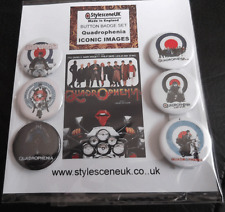 Quadrophenia : Iconic Images 25mm Badge Set (Mod / Scooter)