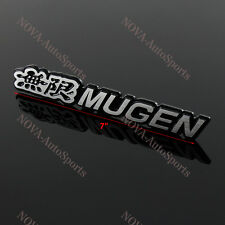 "3D Car Trunk Emblem Badge Sticker Decal MUGEN 7"" for HONDA CIVIC ACURA  - 170mm"