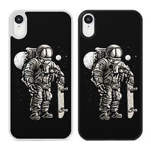 ASTRONAUT SKATER Phone Case Cover For iPhone Samsung Space Skateboard Funny Nasa