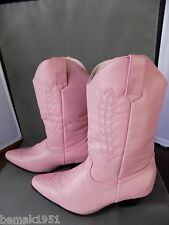 "Pink Cowgirl Boots 1 1/2"" Heels 1031 by Ellie Shoes 185-Rodeo Medium 13-1 NIB"