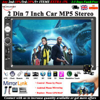 "7""2Din Touch Car MP5+Camera Bluetooth Radio Stereo FM Player In-Dash Mirror Link"