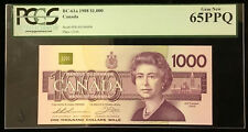 1988 Bank of Canada $1000 - Rare Condition PCGS Gem New 65 PPQ - S/N: EKA0346406