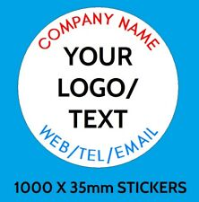 Personalised Business Name Stickers Thank You Seals Your Logo Labels Address1000