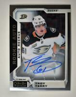 2019-20 OPC Platinum 2018-19 Update Rookie Auto R-TT Troy Terry RC Anaheim Ducks