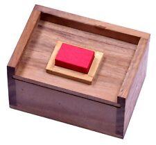 Der rote Stein 3D Puzzle Packwürfel Denkspiel Knobelspiel Geduldspiel aus Holz