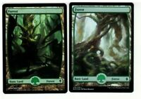 Forest X 2  FOIL  [  Full Art ]  MTG [ Zendikar, Battle for Zendikar]