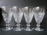 WEBB CUT CRYSTAL VINTAGE SET OF 4 CHAMPAGNE FLUTES / GLASSES (Ref4673)