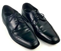 Ecco Oxford Shoes Mens Size 12 US 45 EUR Derby Style Black Leather Apron Toe