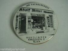 Taschenspiegel,Reklamespiegel, Adolf Miller, Eisen-Miller, Reutlingen, Spiegel.