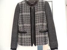 Blazer Kurzjacke Cardigan von MAX MARA WEEEKEND Gr. 40, eher 36-38 schwarz-weiß