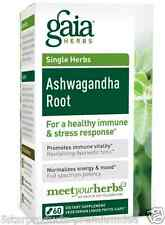 NEW GAIA HERBS SINGLE HERBS ASHWAGANDHA ROOT HEALTHY IMMUNE & STRESS RESPONSE