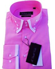 Limited Edition Mens Baby Pink Smart Formal Double Collar Longsleeve Shirt
